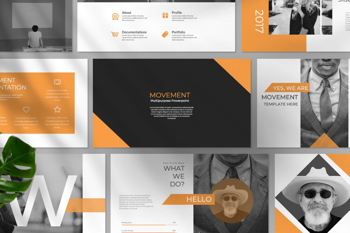 Movement Creative Powerpoint, Slide 10, 06525, Presentation Templates — PoweredTemplate.com