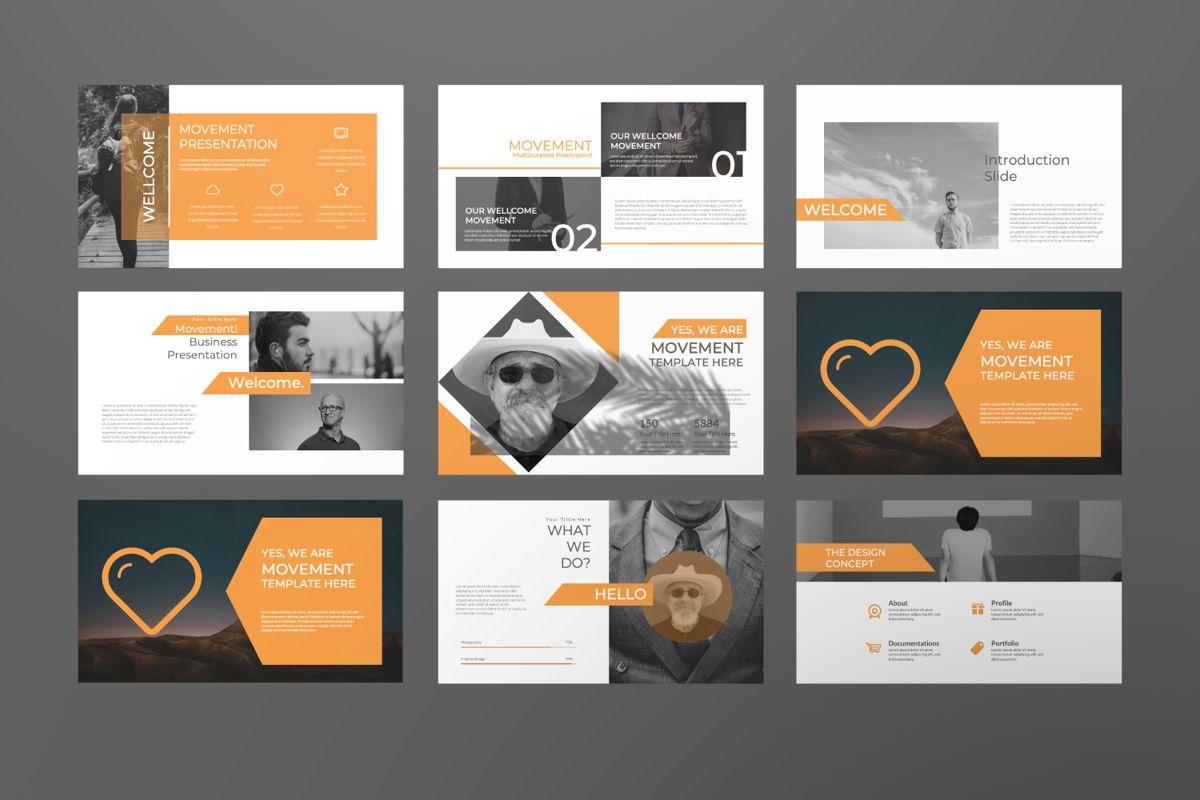 Movement Creative Powerpoint, Slide 2, 06525, Presentation Templates — PoweredTemplate.com