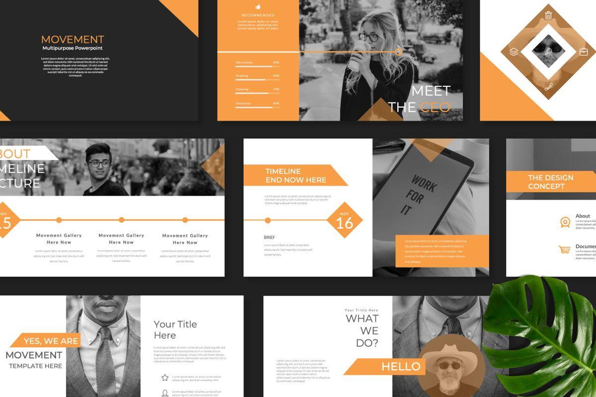 Movement Creative Powerpoint, Slide 9, 06525, Presentation Templates — PoweredTemplate.com
