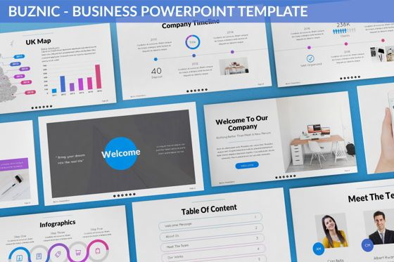 Business Models: Buznic - Business Powerpoint Template #06526