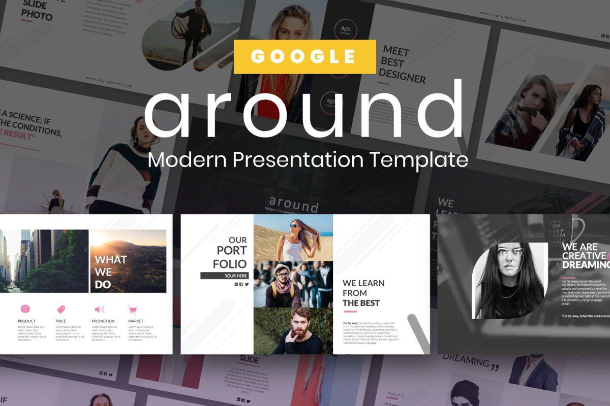Around Business Google Slide, 06527, Presentation Templates — PoweredTemplate.com