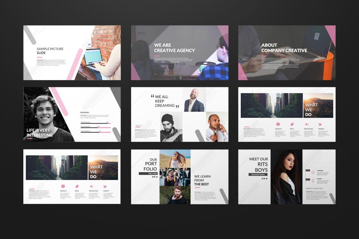 Around Business Google Slide, Slide 3, 06527, Presentation Templates — PoweredTemplate.com