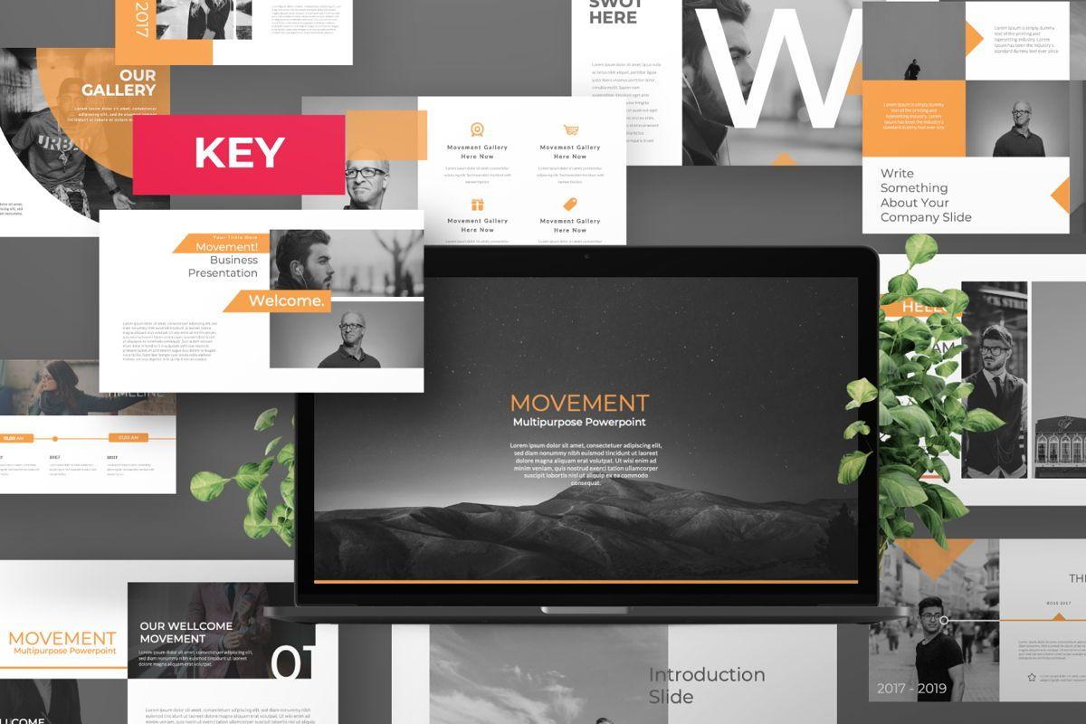 Movement Creative Keynote, 06530, Presentation Templates — PoweredTemplate.com