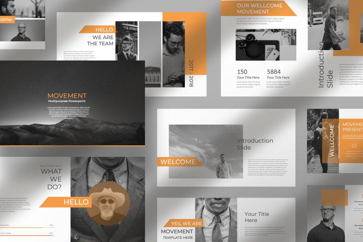 Movement Creative Keynote, Slide 8, 06530, Presentation Templates — PoweredTemplate.com