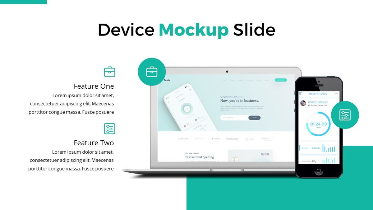 Reepord - Clean Powerpoint Template, Slide 21, 06531, Data Driven Diagrams and Charts — PoweredTemplate.com