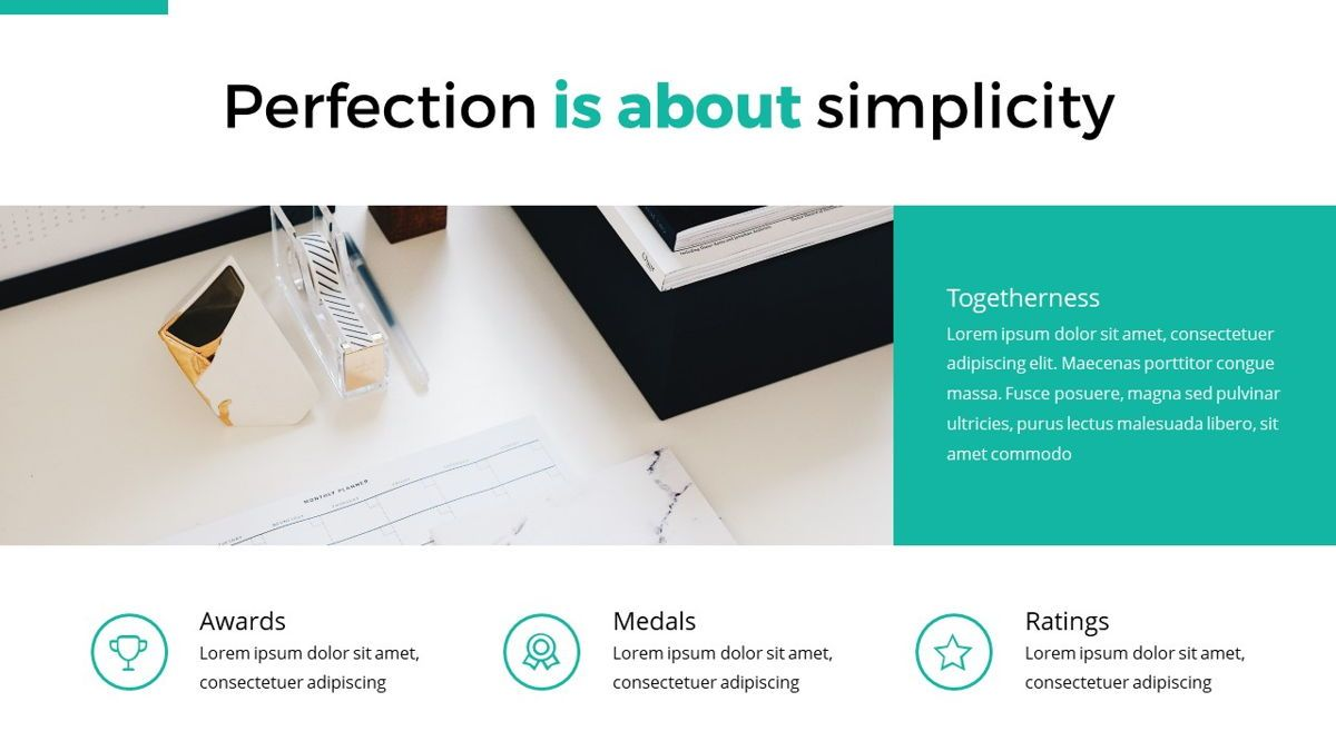 Reepord - Clean Powerpoint Template, Slide 9, 06531, Data Driven Diagrams and Charts — PoweredTemplate.com