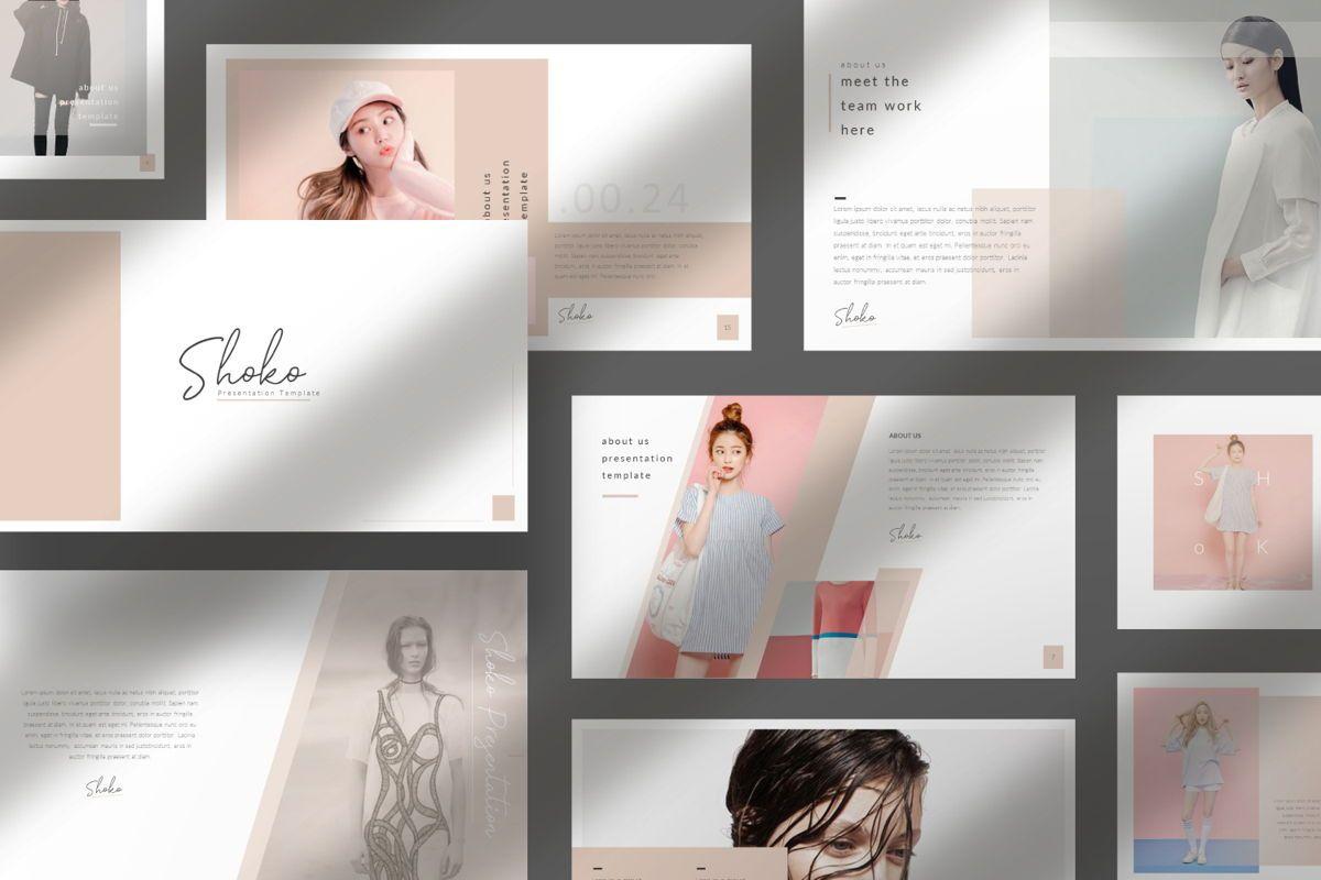 Shoko Minimal Google Slide, 06536, Presentation Templates — PoweredTemplate.com
