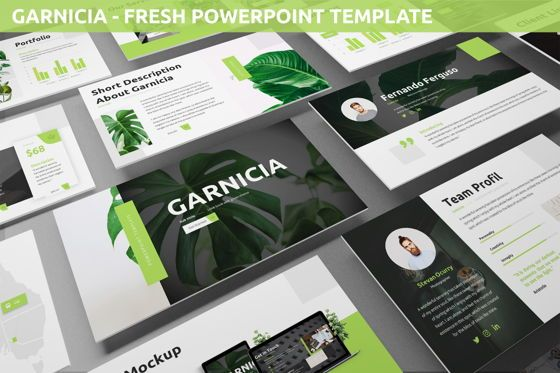 Business Models: Garnicia - Fresh Powerpoint Template #06539