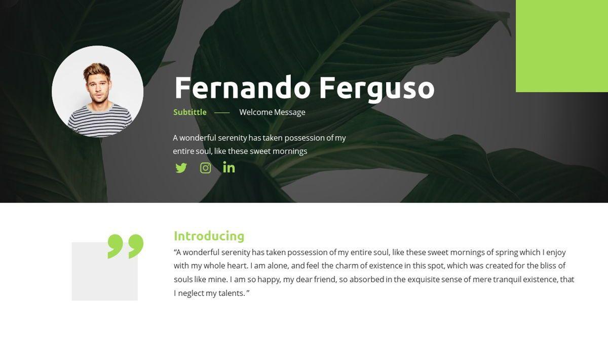 Garnicia - Fresh Powerpoint Template, Slide 3, 06539, Business Models — PoweredTemplate.com