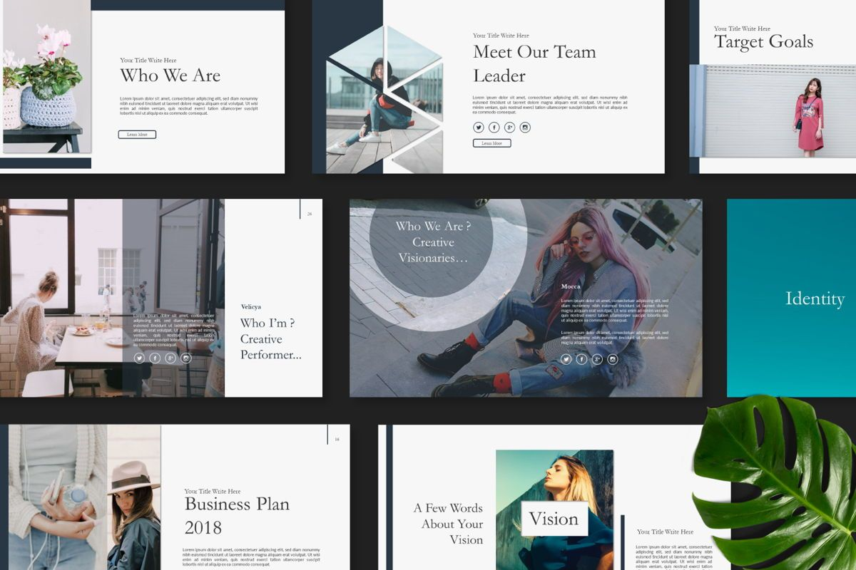 Ailie Creative Google Slide, Slide 2, 06540, Presentation Templates — PoweredTemplate.com