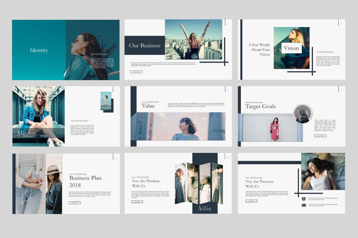 Ailie Creative Google Slide, Slide 4, 06540, Presentation Templates — PoweredTemplate.com