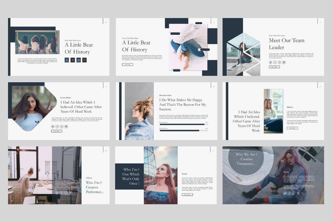 Ailie Creative Google Slide, Slide 5, 06540, Presentation Templates — PoweredTemplate.com