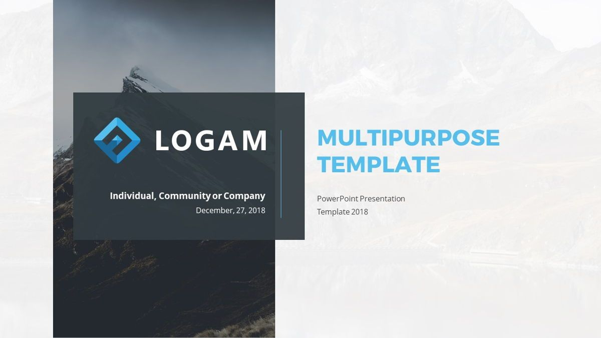 Logam - Multipurpose Powerpoint Template, Slide 2, 06543, Data Driven Diagrams and Charts — PoweredTemplate.com
