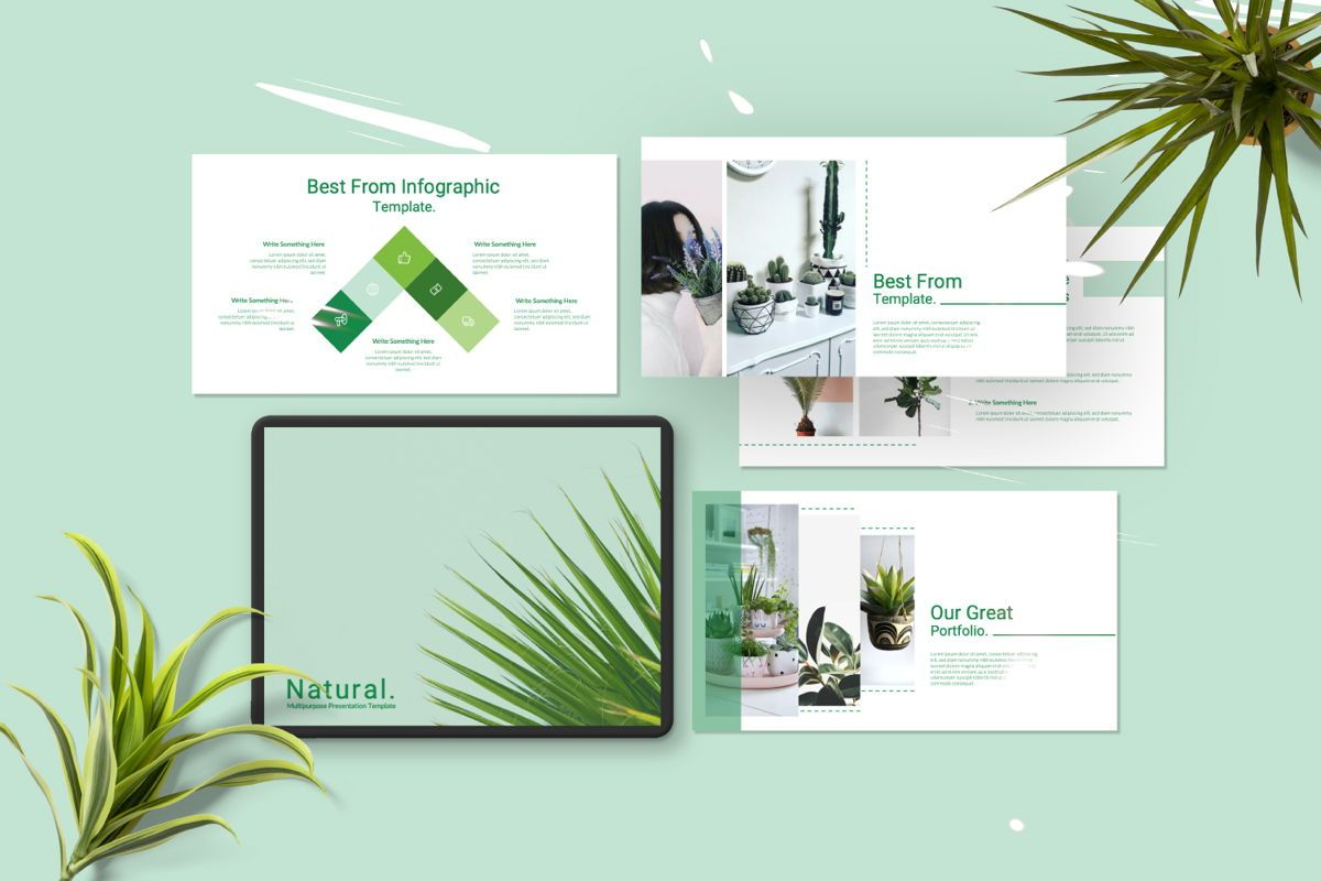 Natural Creative Powerpoint, 06546, Presentation Templates — PoweredTemplate.com