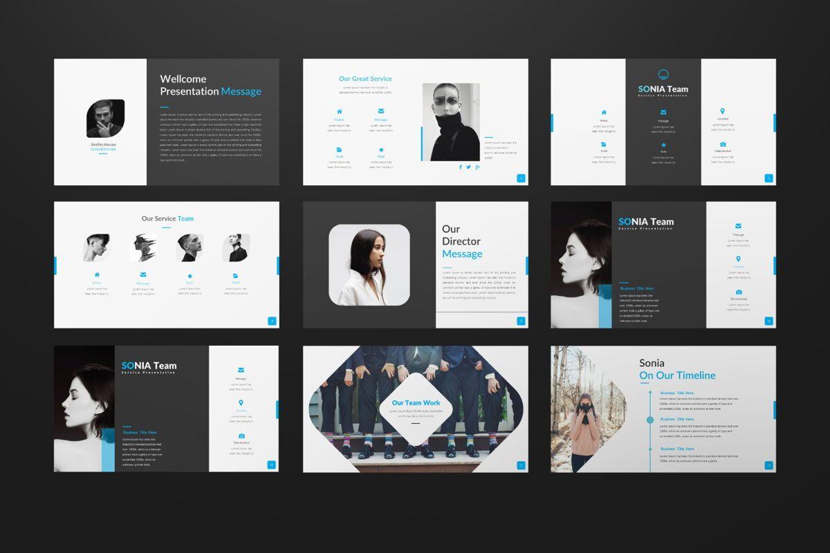 Sonia Creative Google Slide, Slide 2, 06547, Presentation Templates — PoweredTemplate.com