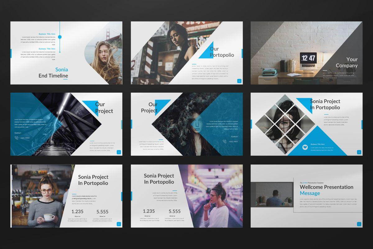 Sonia Creative Google Slide, Slide 3, 06547, Presentation Templates — PoweredTemplate.com