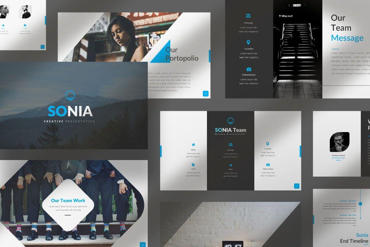 Sonia Creative Google Slide, Slide 8, 06547, Presentation Templates — PoweredTemplate.com