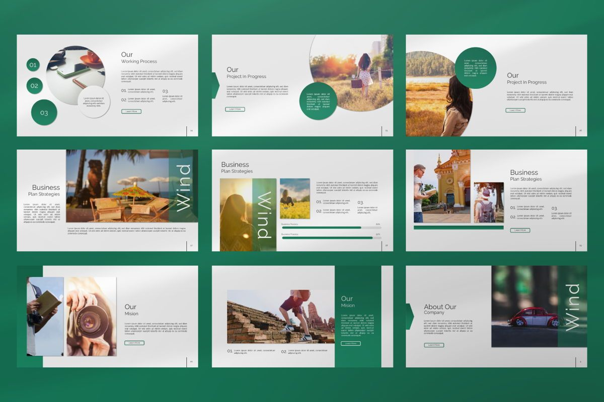 Wild Creative Google Slide, Slide 3, 06550, Presentation Templates — PoweredTemplate.com