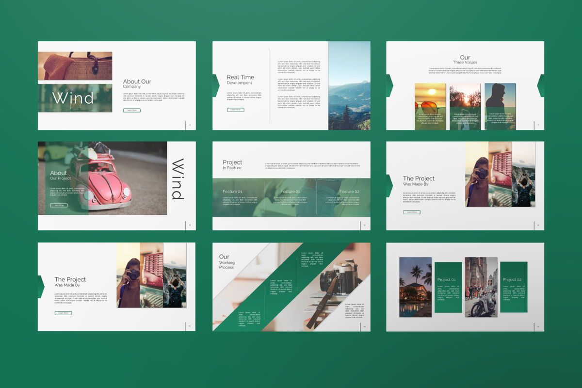 Wild Creative Keynote, Slide 2, 06551, Presentation Templates — PoweredTemplate.com