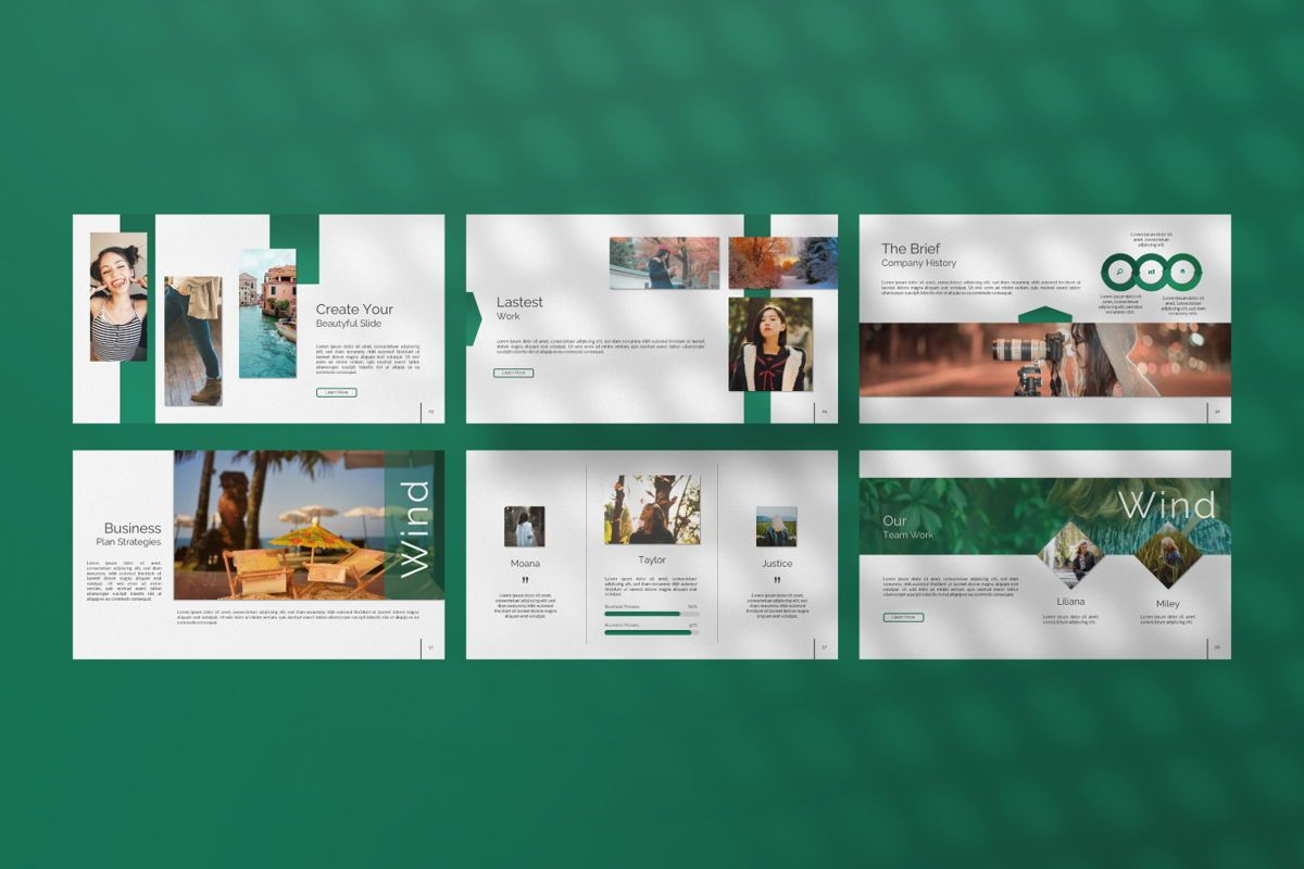 Wild Creative Keynote, Slide 4, 06551, Presentation Templates — PoweredTemplate.com