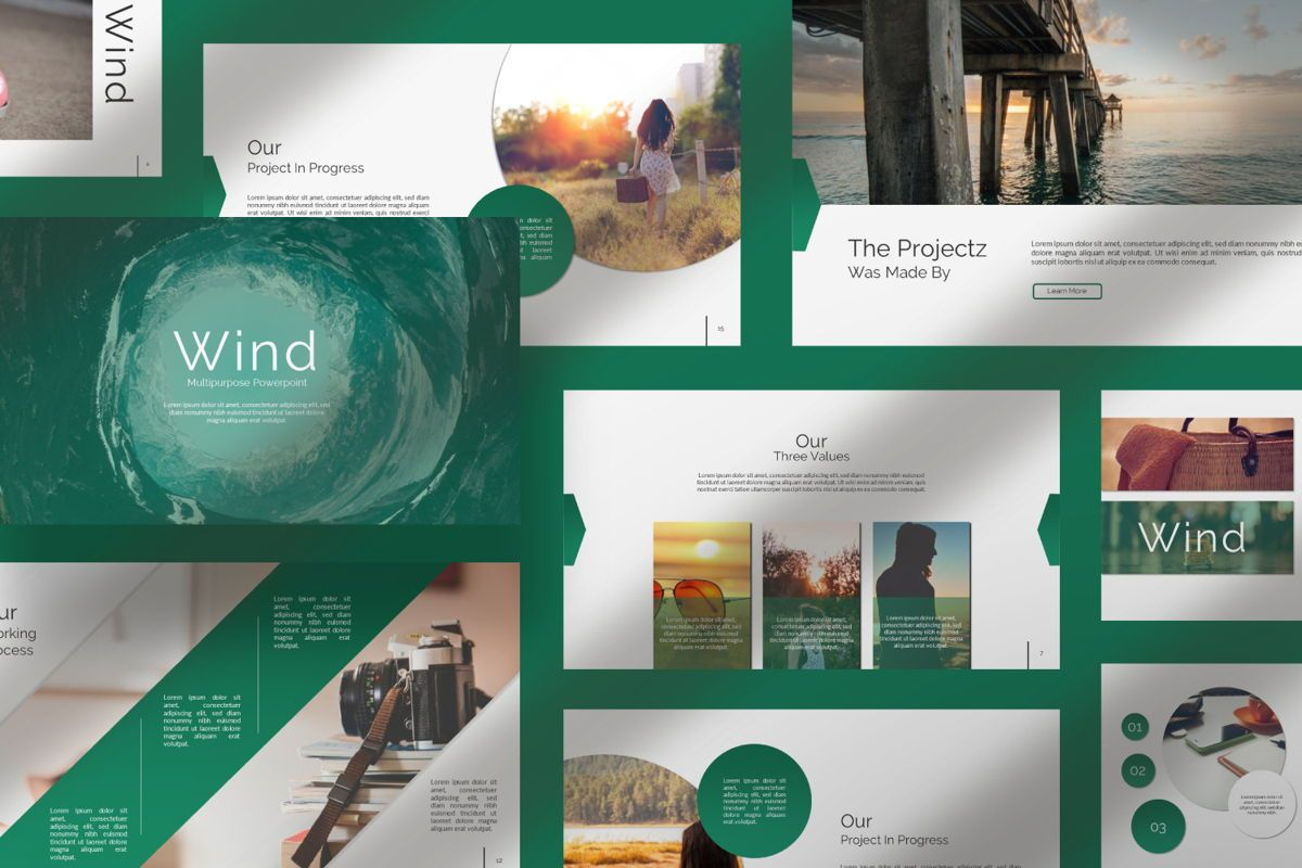 Wild Creative Powerpoint, Slide 9, 06552, Presentation Templates — PoweredTemplate.com