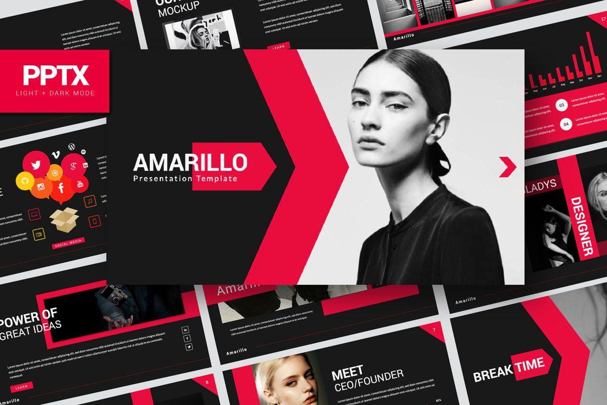 Amarillo Business Powerpoint, 06555, Presentation Templates — PoweredTemplate.com