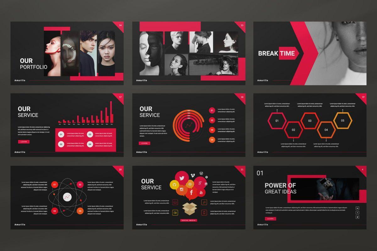 Amarillo Business Powerpoint, Slide 3, 06555, Presentation Templates — PoweredTemplate.com