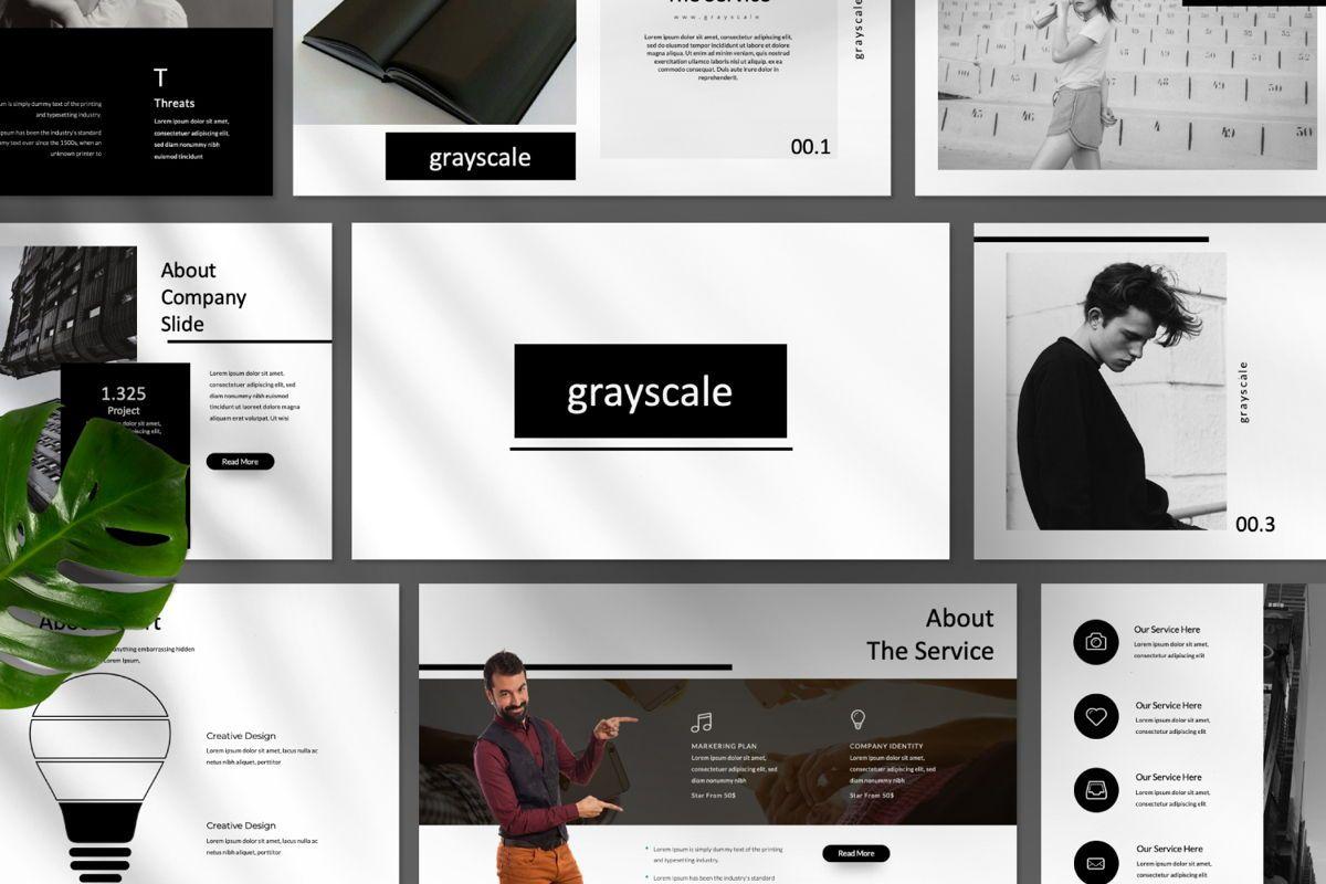 Grayscale Creative Google Slide, Slide 9, 06556, Presentation Templates — PoweredTemplate.com