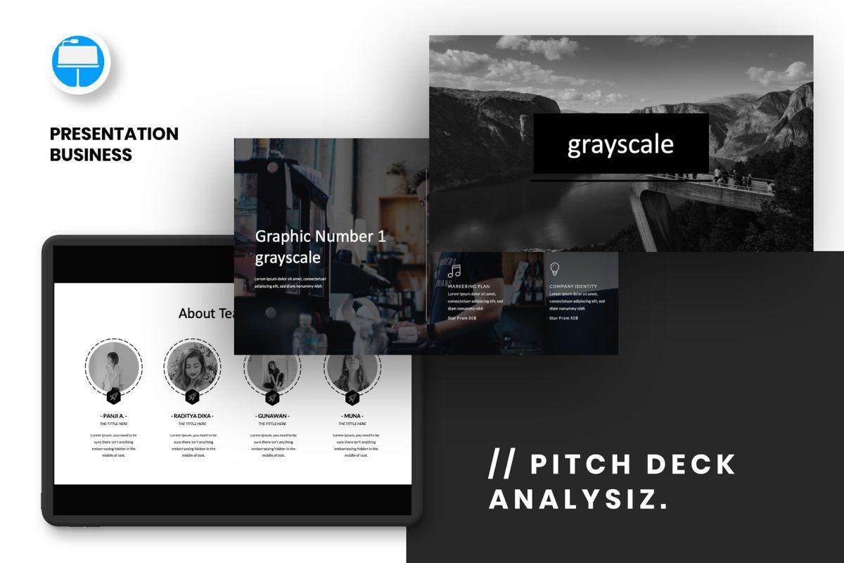 Grayscale Creative Keynote, 06557, Presentation Templates — PoweredTemplate.com