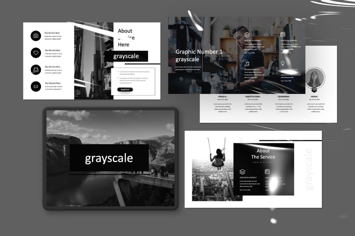 Grayscale Creative Powerpoint, Slide 3, 06558, Presentation Templates — PoweredTemplate.com