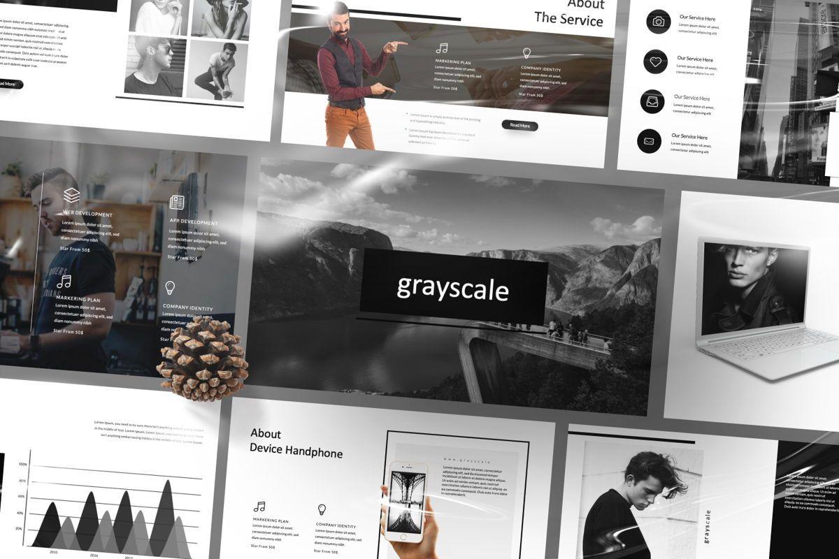 Grayscale Creative Powerpoint, Slide 4, 06558, Presentation Templates — PoweredTemplate.com