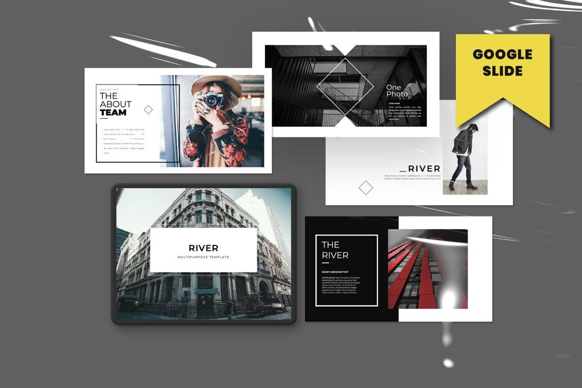River Creative Google Slide, 06559, Presentation Templates — PoweredTemplate.com