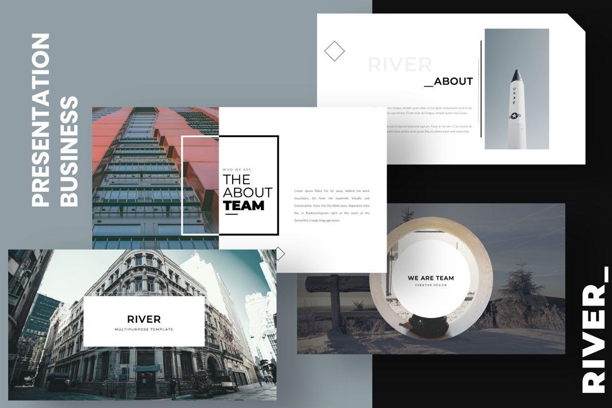 River Creative Keynote, 06560, Presentation Templates — PoweredTemplate.com
