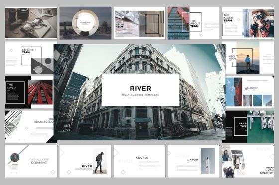 Presentation Templates: River Creative Powerpoint #06561