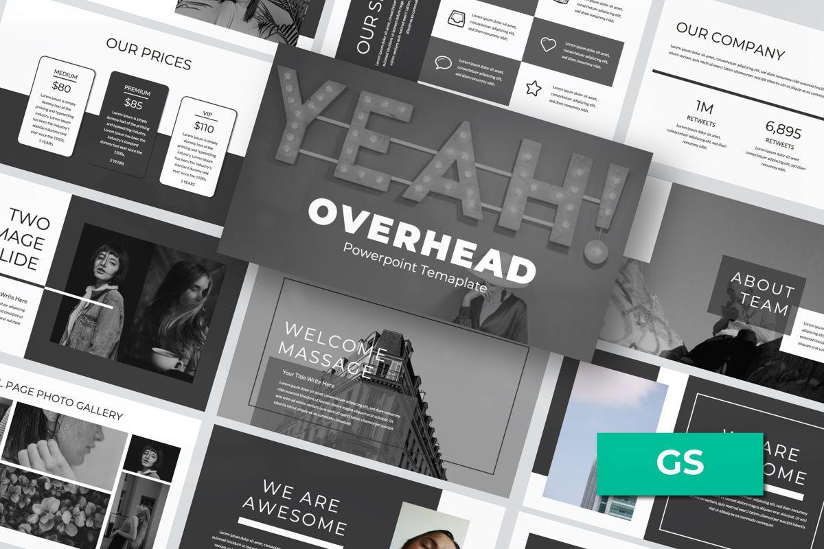 Overhead Creative Google Slide, 06562, Presentation Templates — PoweredTemplate.com