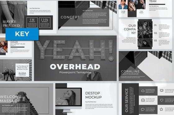 Presentation Templates: Overhead Creative Keynote #06563