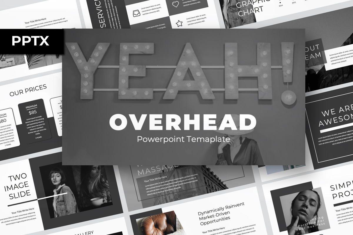 Overhead Creative Powerpoint, 06564, Presentation Templates — PoweredTemplate.com