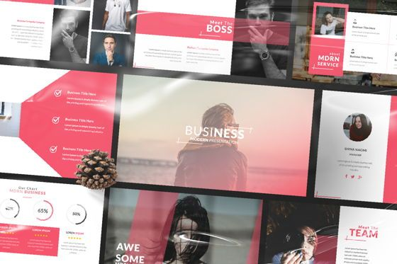 Presentation Templates: Business 2 Creative Google Slide #06568