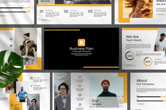 Presentation Templates: Business Plan Powerpoint #06571