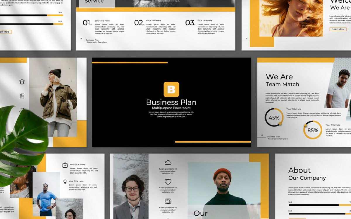 Business Plan Keynote, 06572, Presentation Templates — PoweredTemplate.com