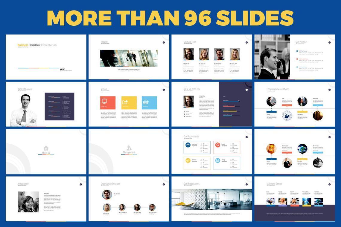 Business PowerPoint Presentation Template, Slide 2, 06574, Infographics — PoweredTemplate.com