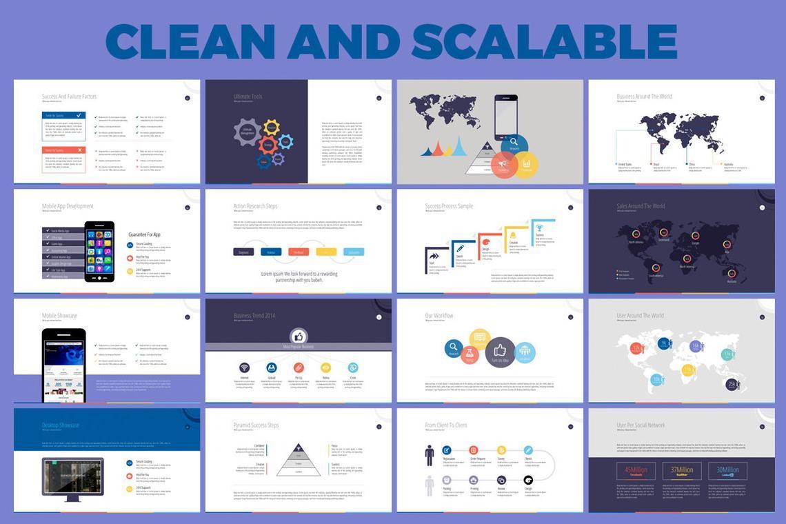 Business PowerPoint Presentation Template, Slide 6, 06574, Infographics — PoweredTemplate.com