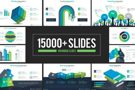 Icons: Elite PowerPoint Template with Infographics #06575