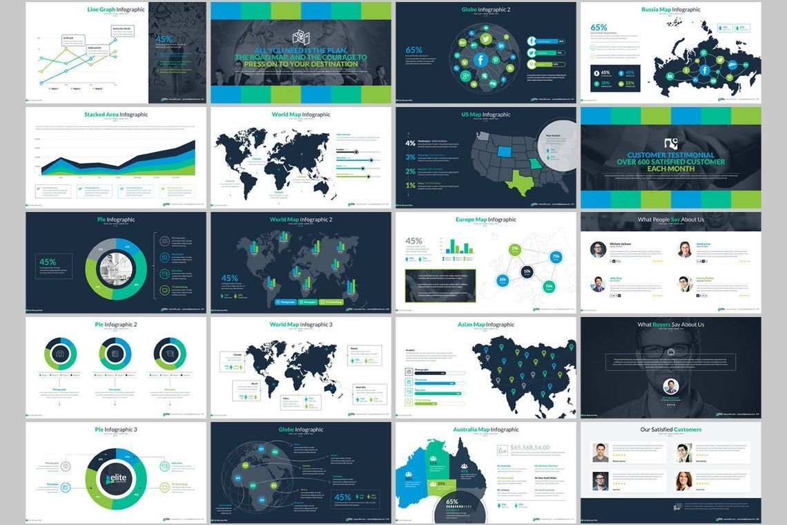Elite PowerPoint Template with Infographics, Slide 10, 06575, Icons — PoweredTemplate.com