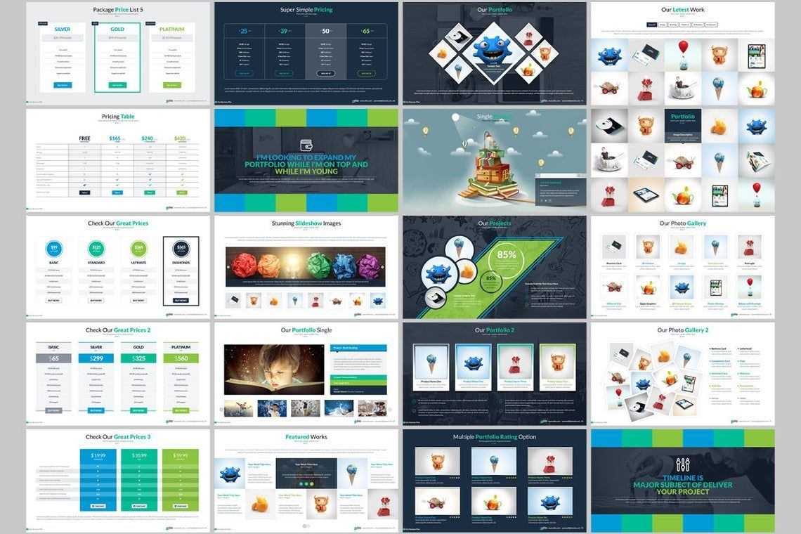 Elite PowerPoint Template with Infographics, Slide 5, 06575, Icons — PoweredTemplate.com