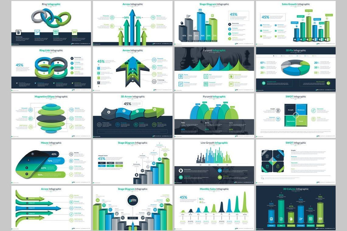 Elite PowerPoint Template with Infographics, Slide 8, 06575, Icons — PoweredTemplate.com
