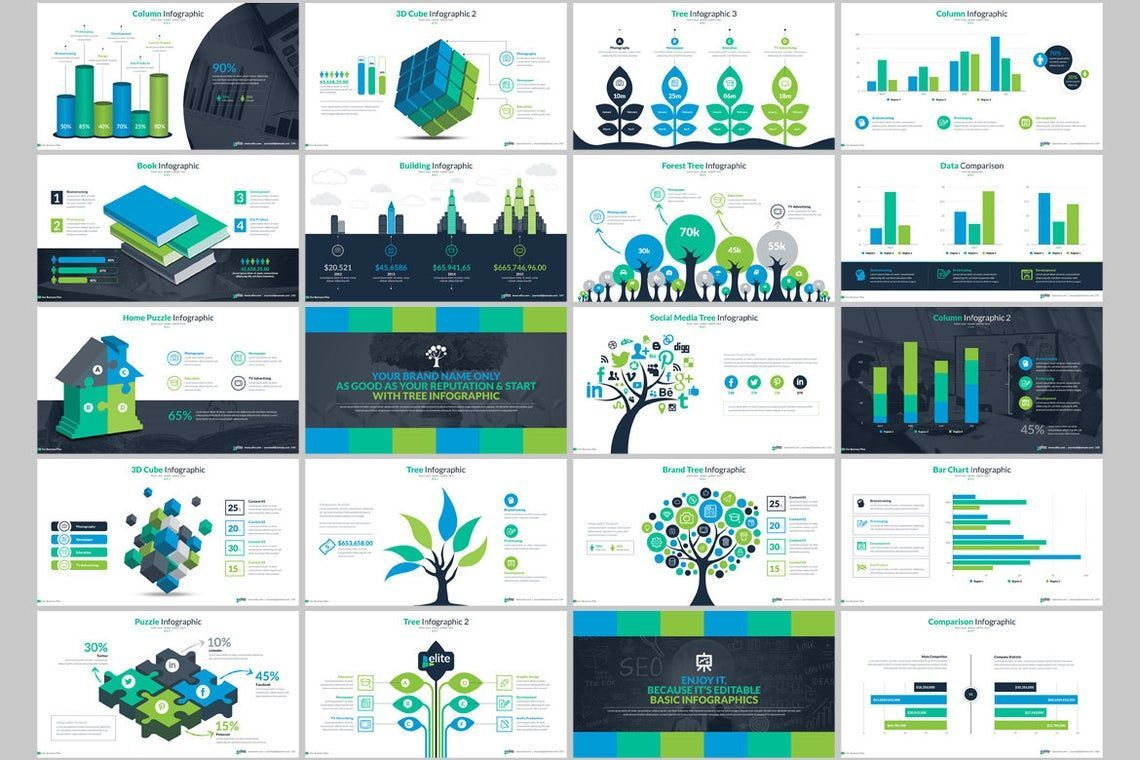 Elite PowerPoint Template with Infographics, Slide 9, 06575, Icons — PoweredTemplate.com
