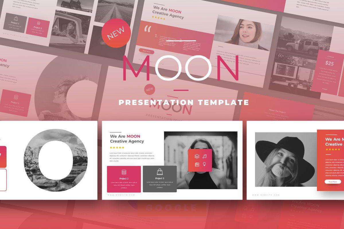 Moon Business Google Slide, 06577, Presentation Templates — PoweredTemplate.com