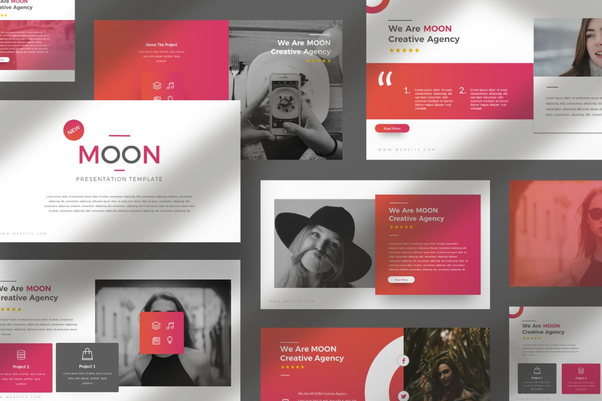 Moon Business Google Slide, Slide 5, 06577, Presentation Templates — PoweredTemplate.com