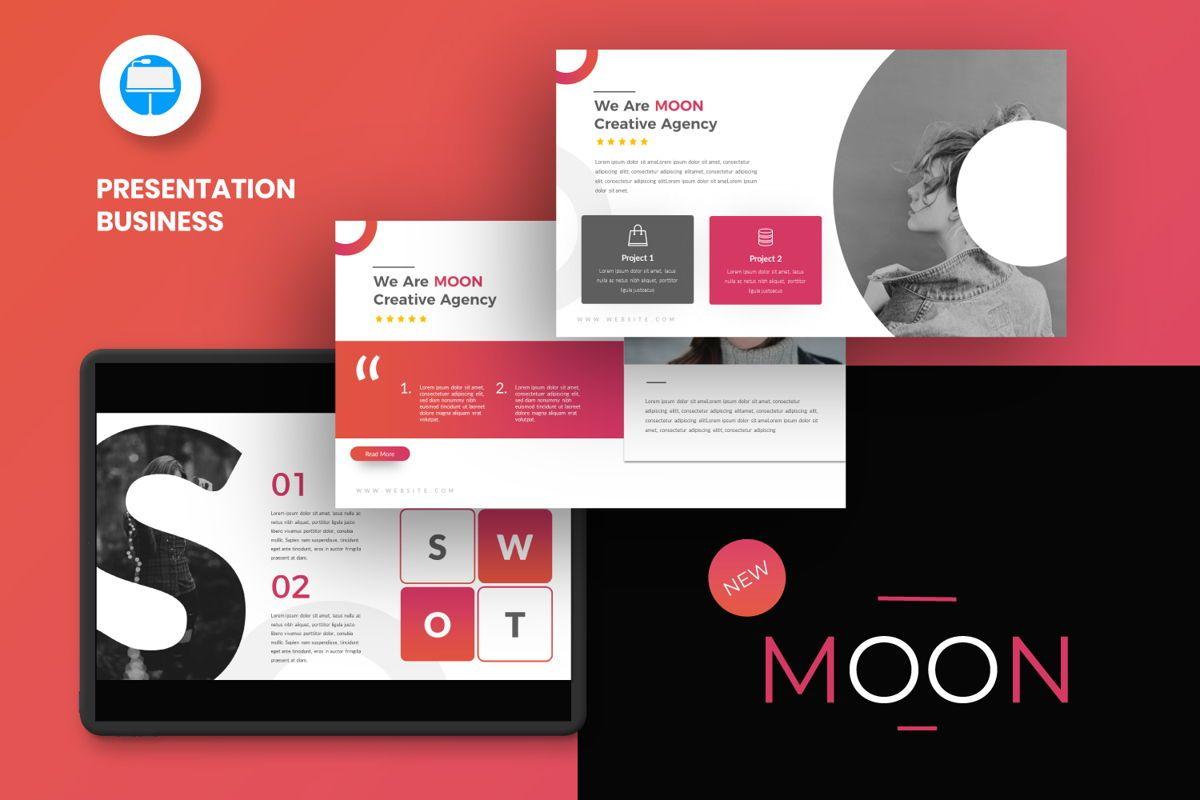 Moon Business Keynote, 06578, Presentation Templates — PoweredTemplate.com